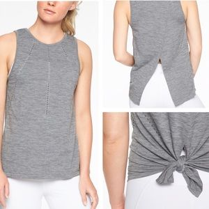 Athleta Foothill Heather Gray Yoga Tank Size Med